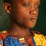 A young visually impaired boy in Sierra Leone.