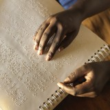 Braille at a school in Malawi.