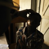 Eye examination at an eye camp in Zambia.
