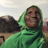 Widow Ebada, 55, had 70 goats but only 13 have survived the drought so far.