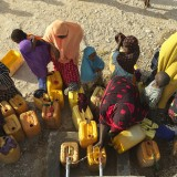 In the Somalian drought women are walking for hours searching for clean water.