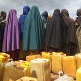 Collecting water at Kerow-Margan Camp in Baidoa, Somalia.